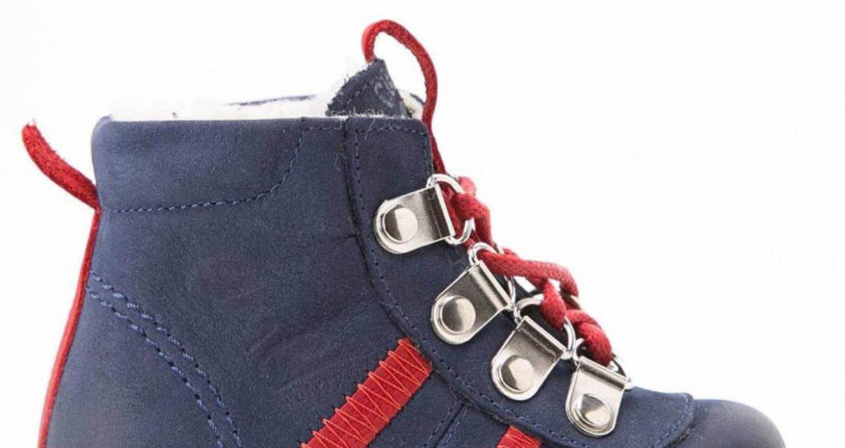 dziecięcy but granatowo czerwony