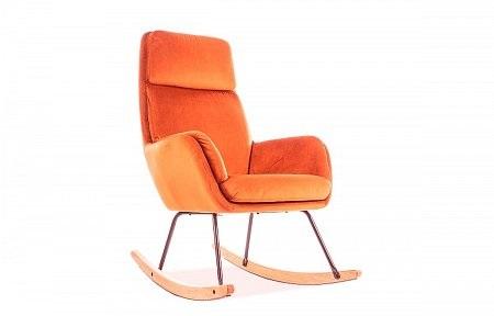 bujany pomarańczowy fotel