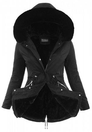 Czarna kurtka na zime