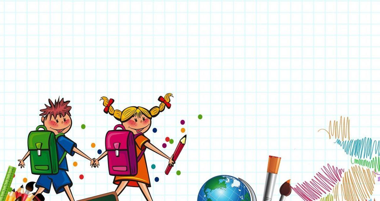 Animowane dzieci w drodze do szkoły