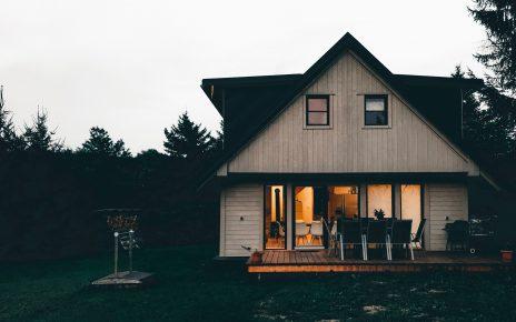 Dom z pięknym tarasem