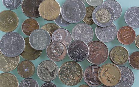 Monety z różnych walut