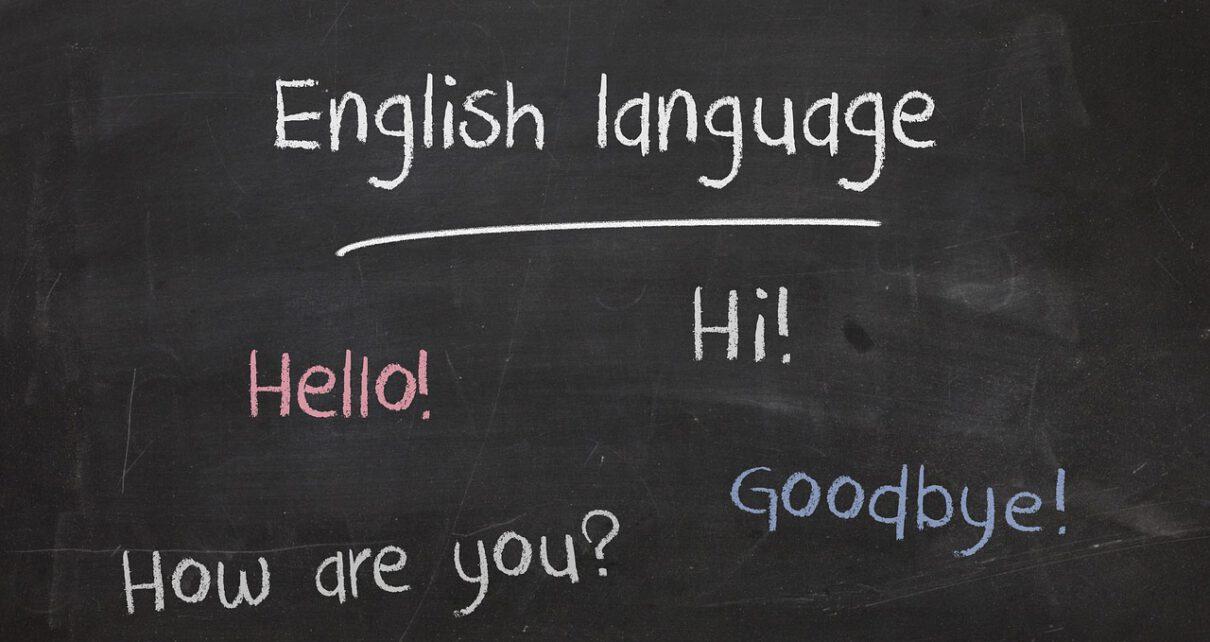 tablica z angielskimi słowami