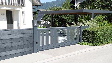 nowoczesne murowane ogrodzenie
