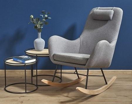 bujany fotel na płozach