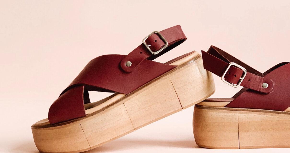 Skórzane sandały.