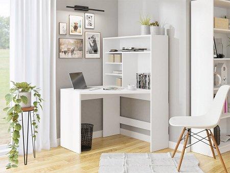 Narozne biurko z regałem dla studenta